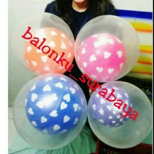 balon latex dobel