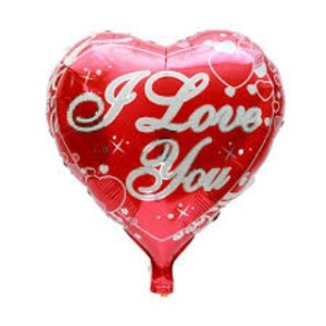 balon foil love print i love you