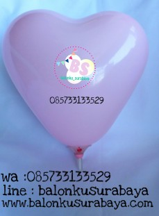 balon love, balon latex love, balon hati, love pink