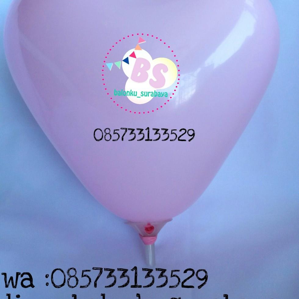 balon love, balon latex love, balon hati, love pink