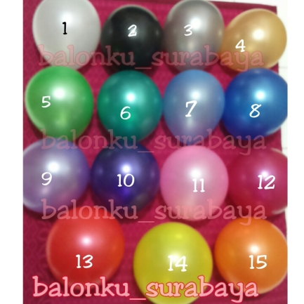 balon latex metalik