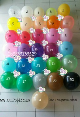 Jual Balon Latex Doff, Jual Balon latex, Jual Balon Metalik, Dekorasi Balon, Balon Sablon, Balon Custom