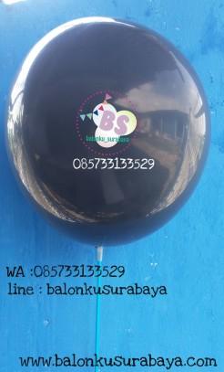 Balon metalik hitam tebal