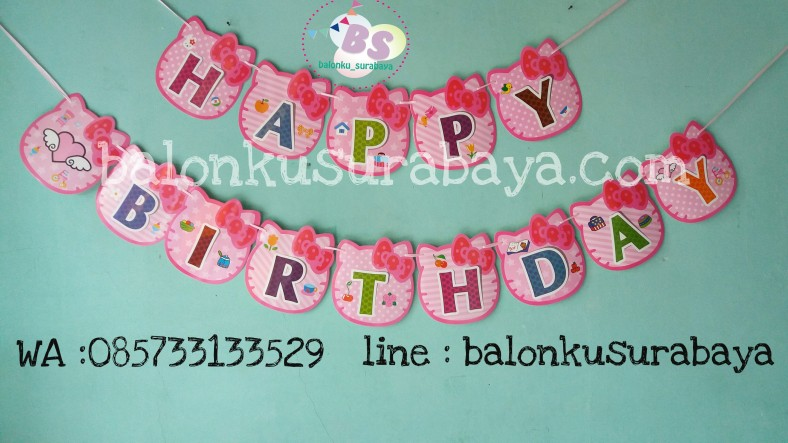 bendera ulang tahun hello kitty, balon doff, balon latex doff, balon ulang tahun, balon dekorasi, balon foil, balon metalik, balon twist, balon latex, balon huruf, balon angka, supplier balon, dekorasi balon, sablon balon, confetti, bendera ulang tahun, balon LED, lampion terbang
