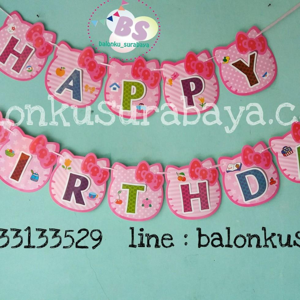 bendera ulang tahun hello kitty, balon doff, balon latex doff, balon ulang tahun, balon dekorasi, balon foil, balon metalik, balon twist, balon latex, balon huruf, balon angka, supplier balon, dekorasi balon, sablon balon, confetti, bendera ulang tahun, balon LED, lampion terbang