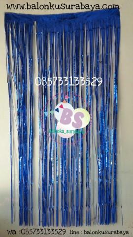 foil curtain biru, backdrop ulang tahun, balon doff, balon latex doff, balon ulang tahun, balon dekorasi, balon foil, balon metalik, balon twist, balon latex, balon huruf, balon angka, supplier balon, dekorasi balon, sablon balon, confetti, bendera ulang tahun, balon LED, lampion terbang