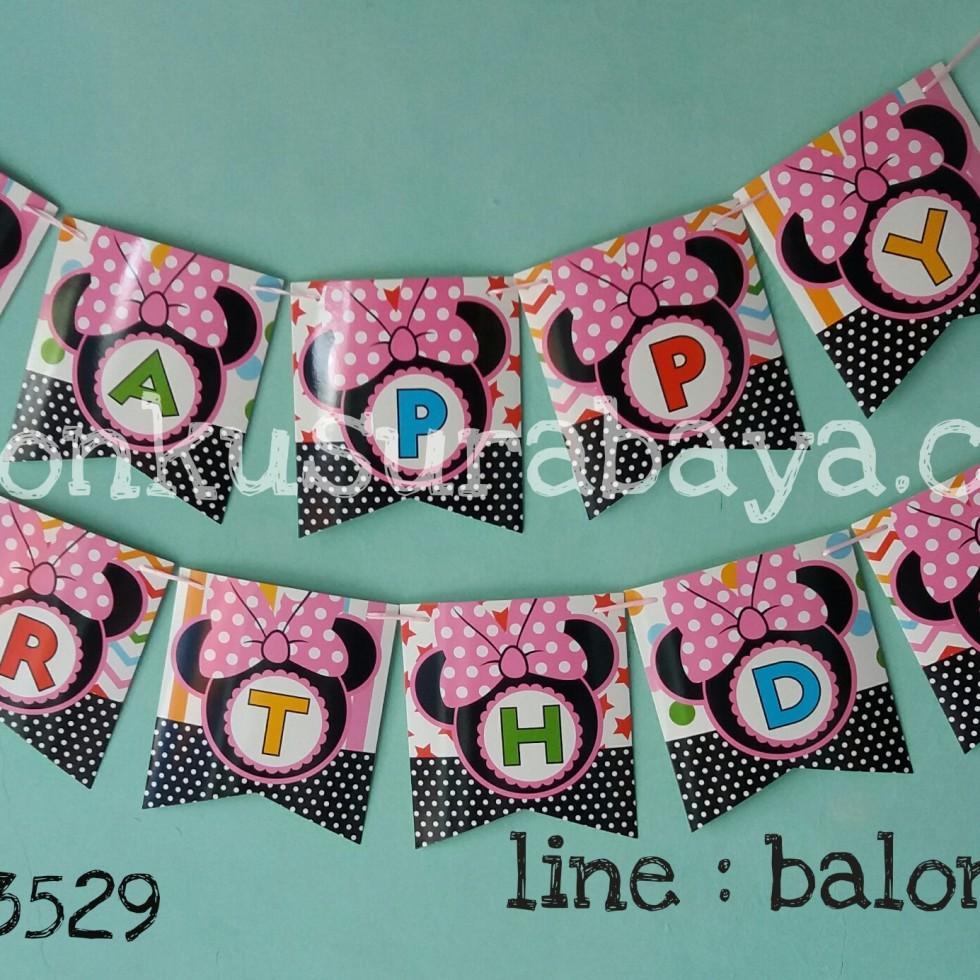 bunting flag minie mouse, balon doff, balon latex doff, balon ulang tahun, balon dekorasi, balon foil, balon metalik, balon twist, balon latex, balon huruf, balon angka, supplier balon, dekorasi balon, sablon balon, confetti, bendera ulang tahun, balon LED, lampion terbang