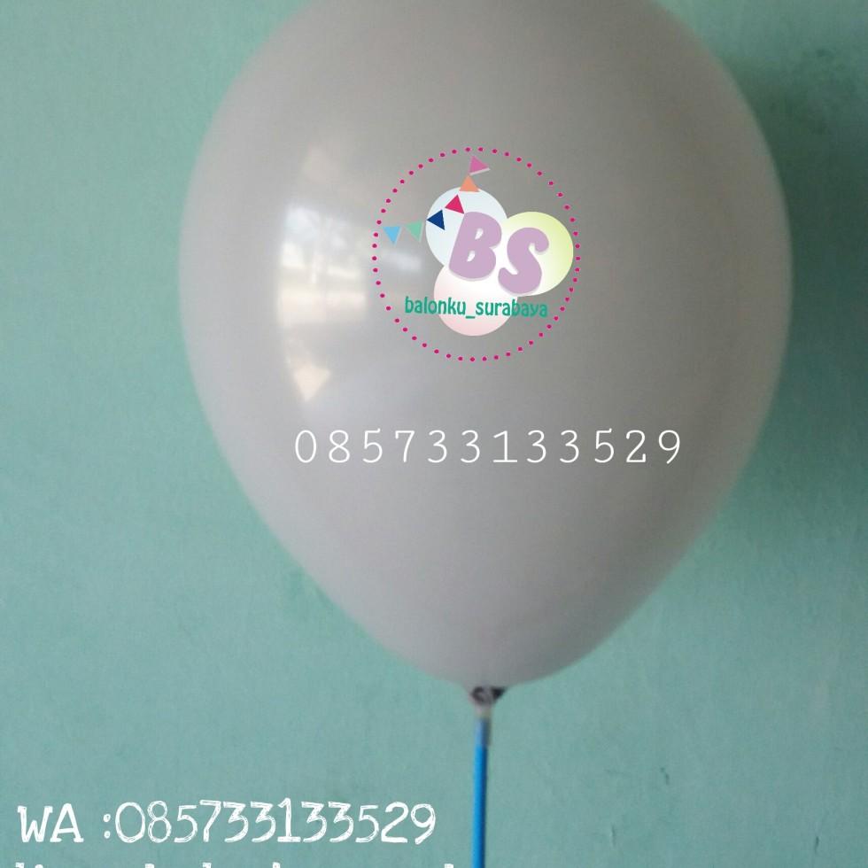 balon warna abu - abu, balon latex, balon adalima, balon doff, balon metalik