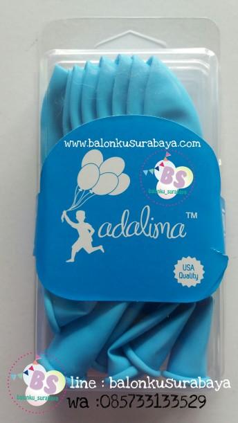 Balon Adalima, balon latex biru muda, balon dekorasi, balon ulang tahun