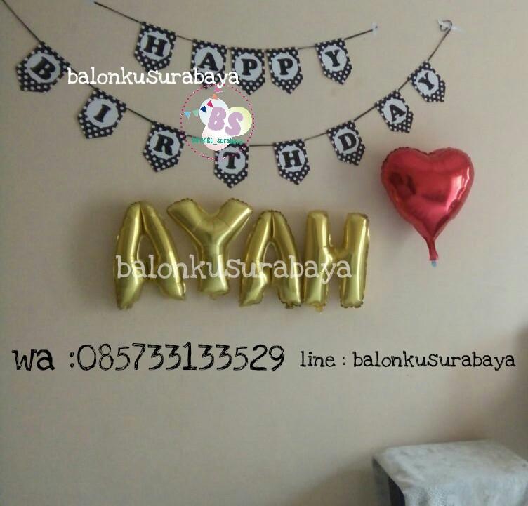 dekorasi ulang tahun simple