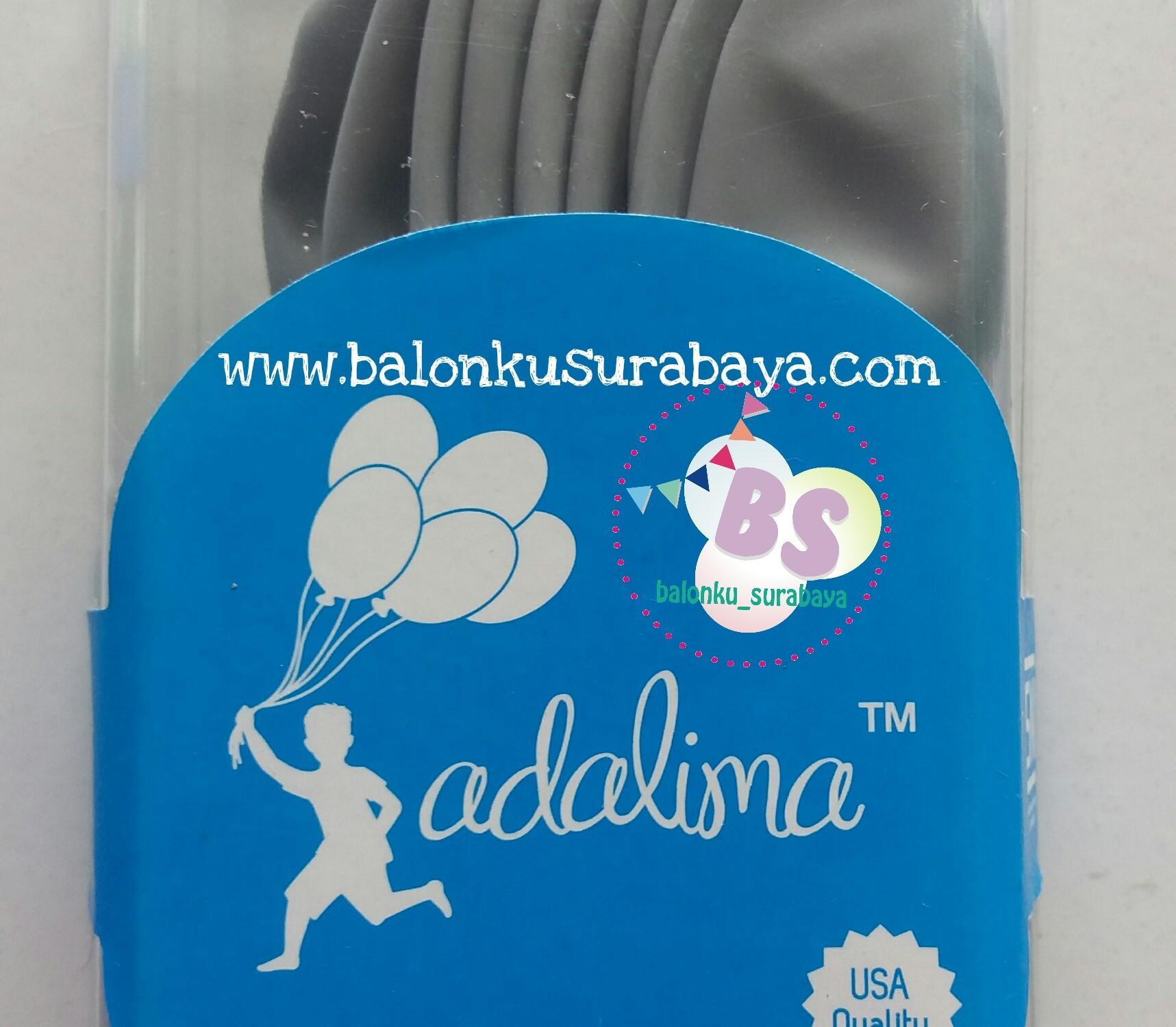 balon abu-abu. balon silver, balon latex adalima, balon adalima, balon doff, balon metalik