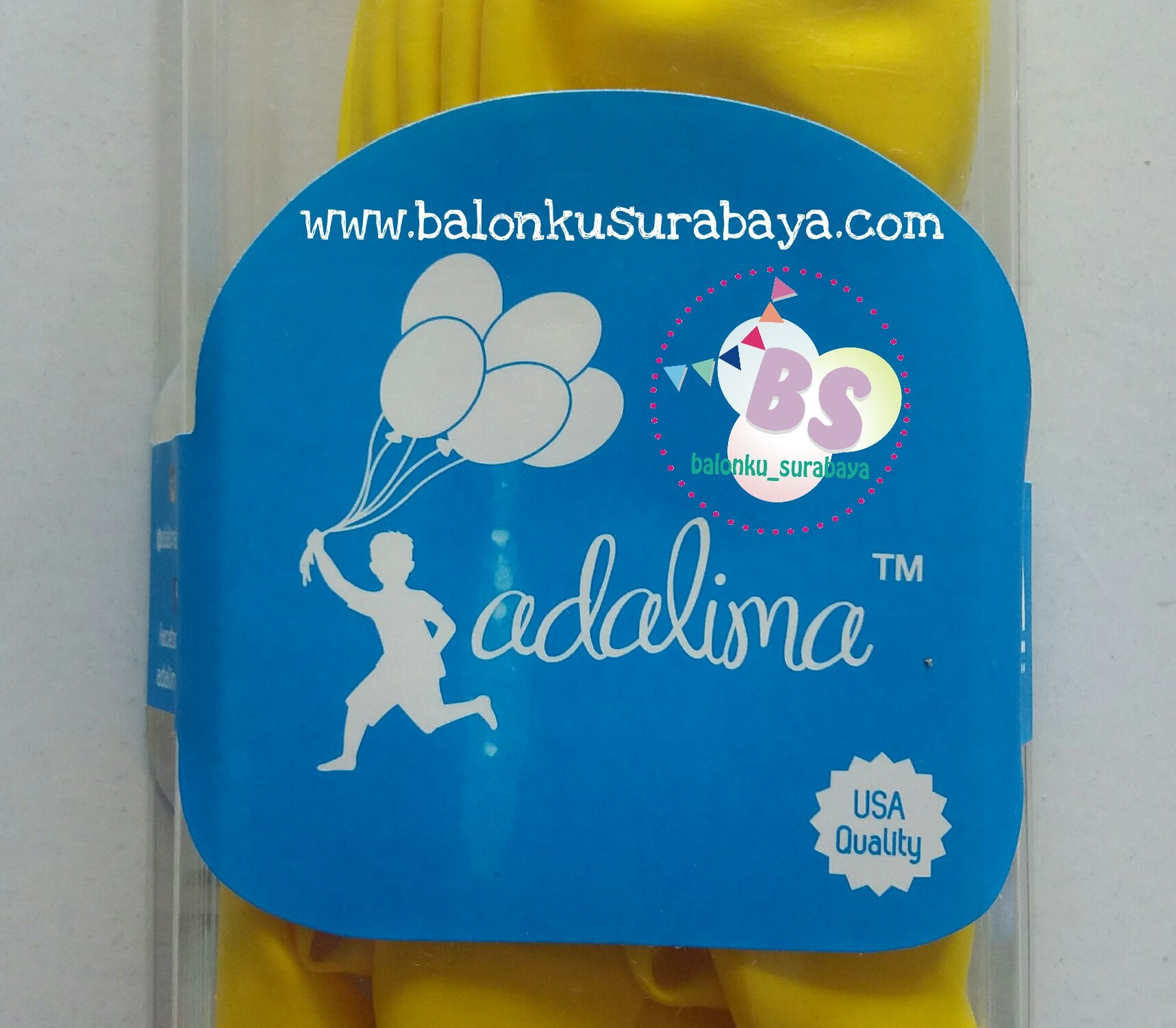 balon latex, balon warna kuning, balon kuning