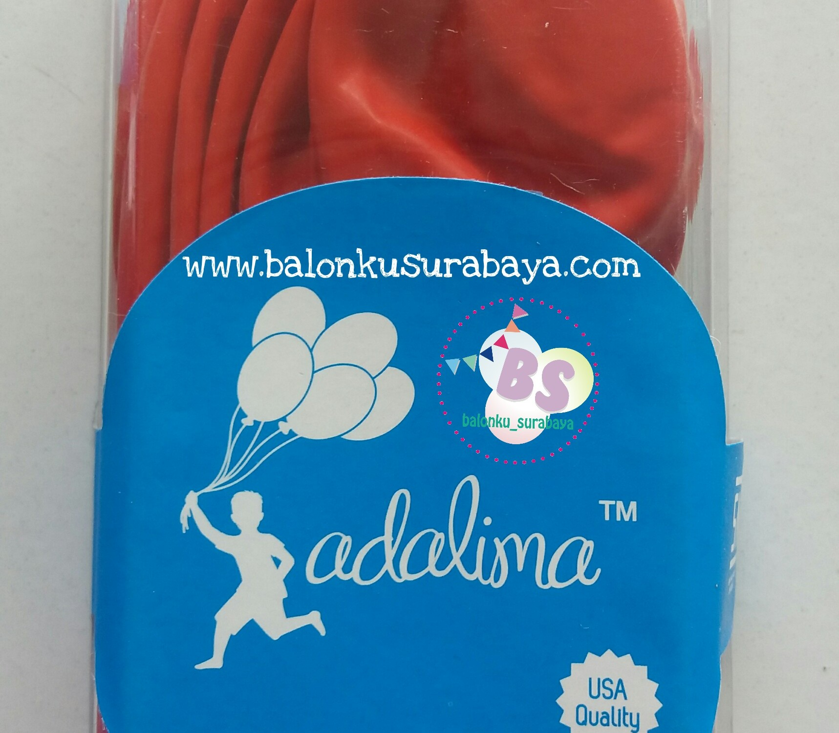balon latex, balon warna merah, balon tebal, balon dekorasi, suplier balon