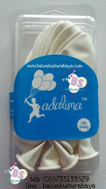 balon doff, balon metalik, balon warna putih, balon tebal, balon dekorasi, balon adalima
