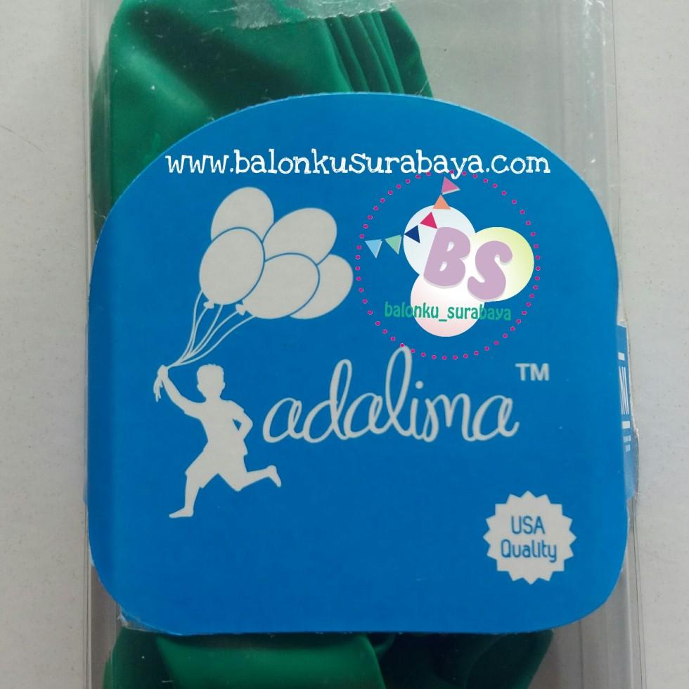balon latex adalima warna hijau mint crystal, balon doff, balon metalik