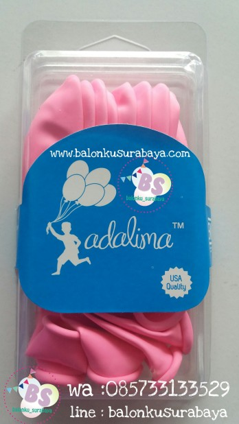 Balon laex adalima warna hot pink crystal, balon doff, balon metalik