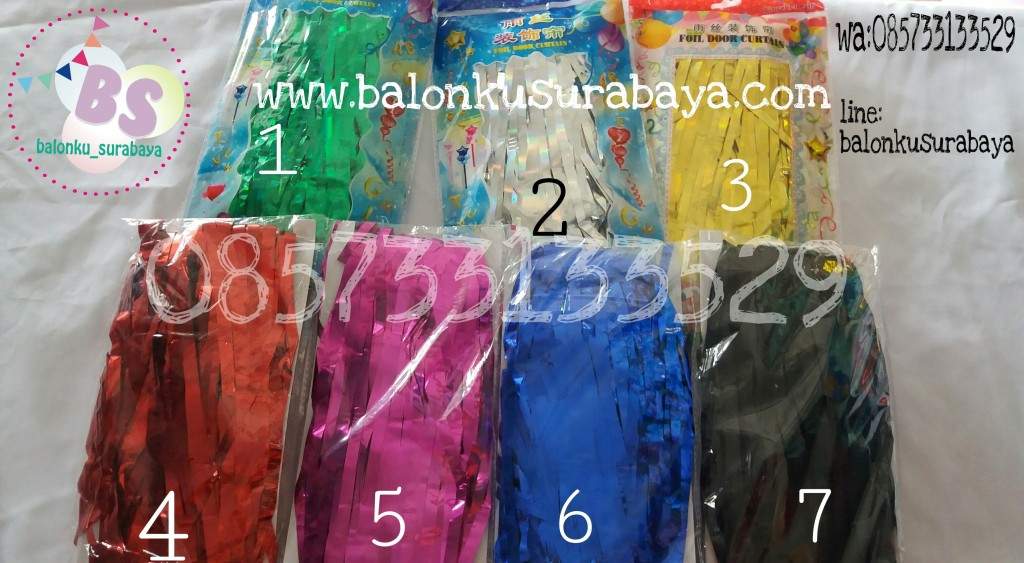 Foil curtain, tirai foil, dekorasi balon, party planner, balon promosi