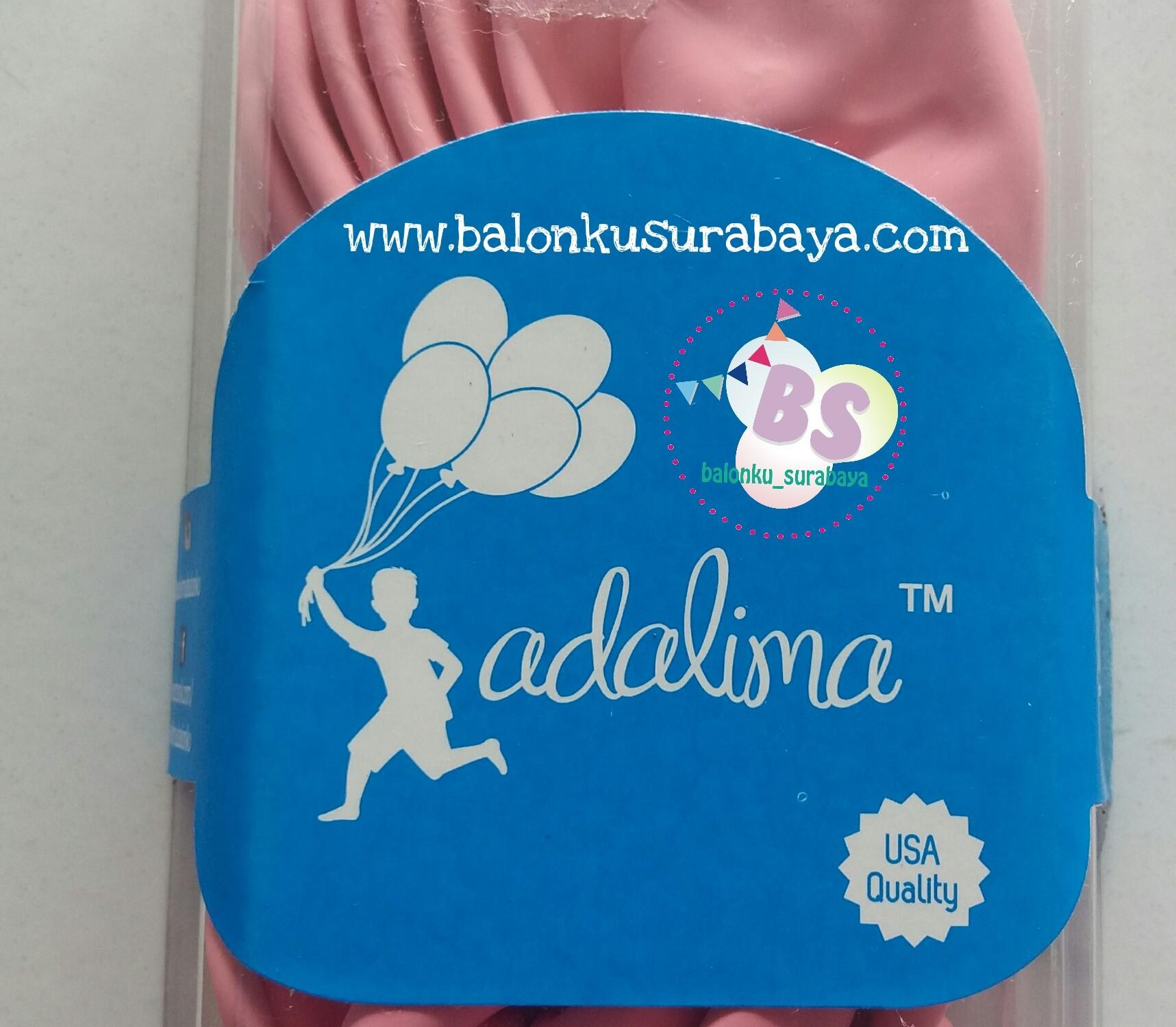 balon latex adalima pink, balon doff, balon metalik