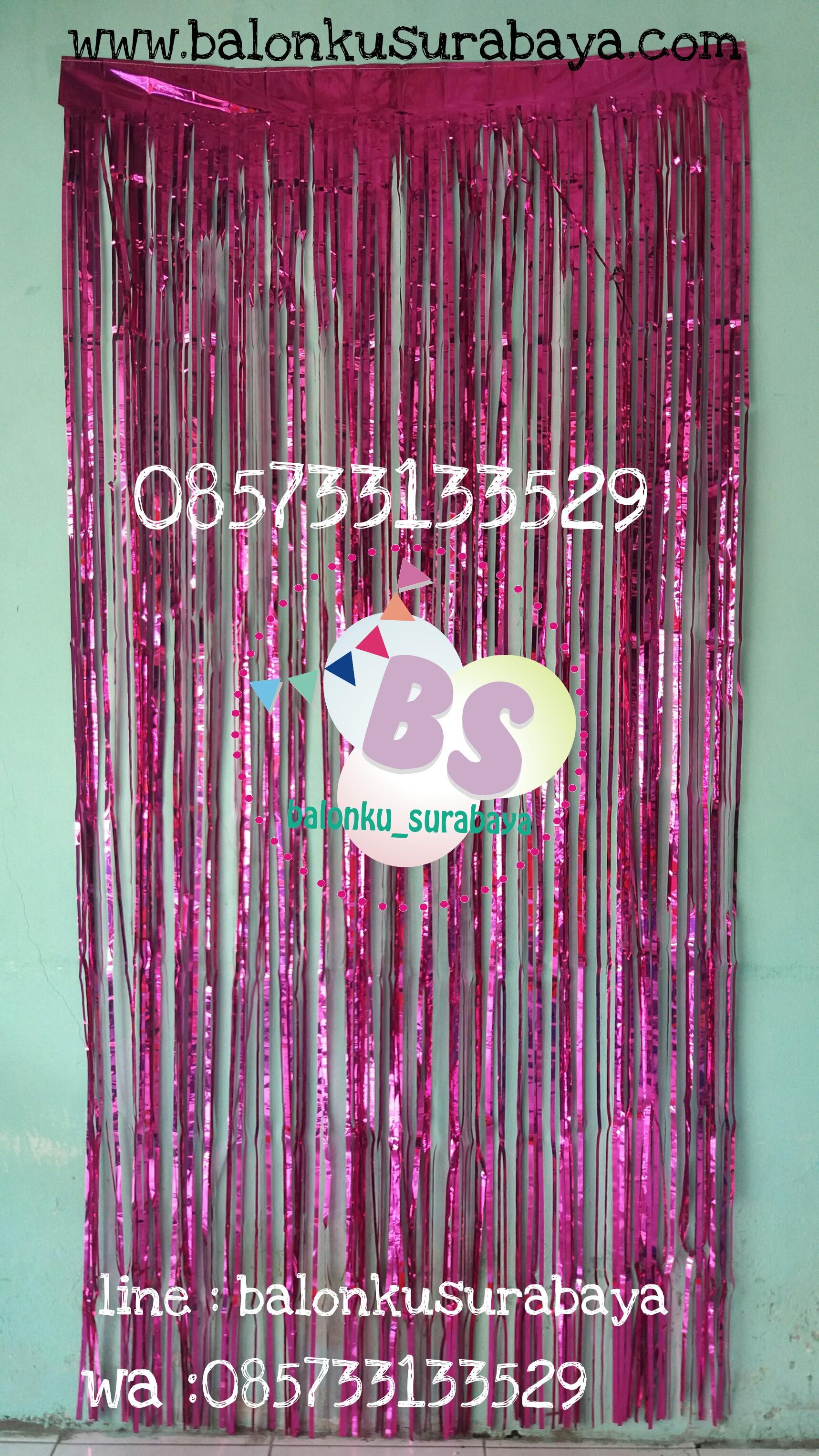 tirai foil, Foil curtain, backdrop ulang tahun