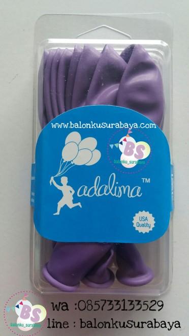 Balon LAtex Adalima warna Ungu Muda Crystal, balon doff, balon metalik