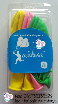 balon latex warna- warni, balon adalima, balon doff, balon metalik