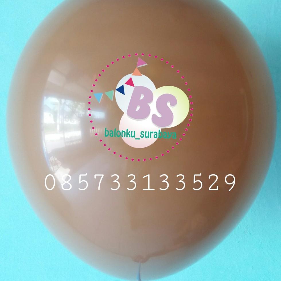 Balon crystal, balon doff, balon metalik, balon gas, balon dekorasi, balon surprise, balon latex coklat