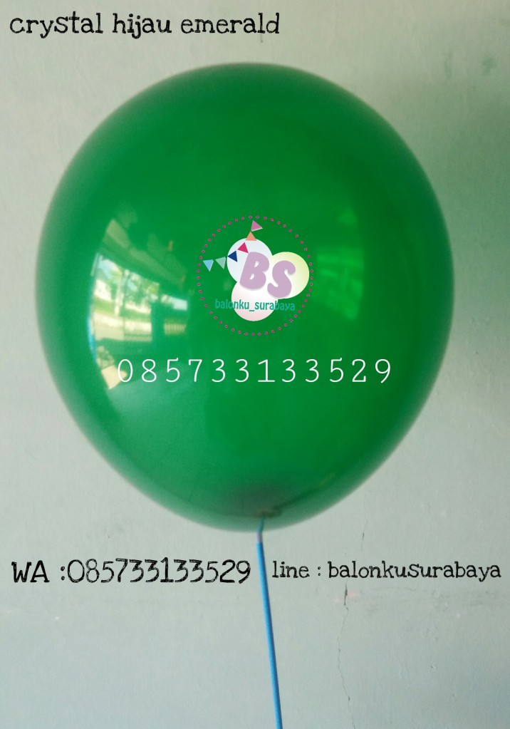 Balon crystal, balon doff, balon metalik, balon gas, balon dekorasi, balon surprise, balon hijau