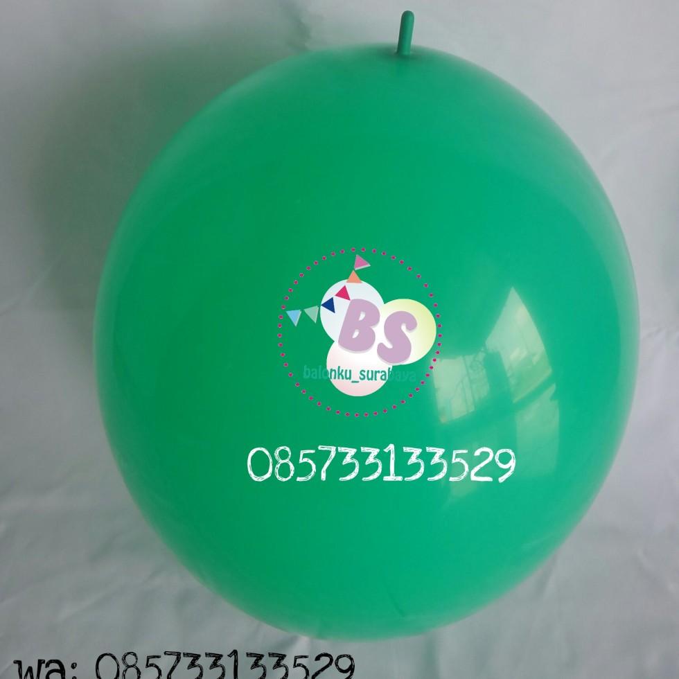 balon latex link, balon link, balon latex ekor, balon ekor, balon ekor hijau mint