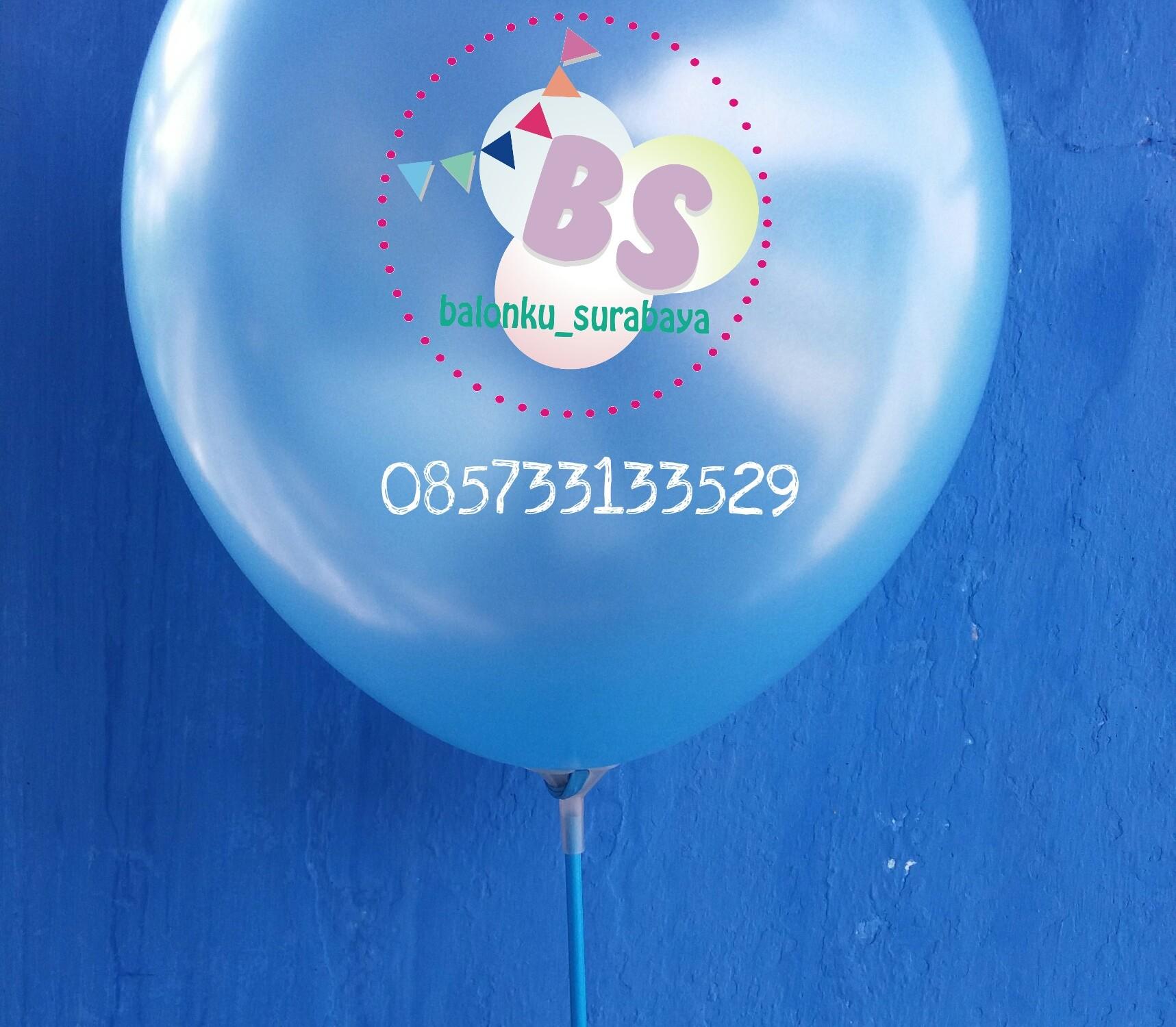 balon latex, balon metalik, balon latex metalik biru muda