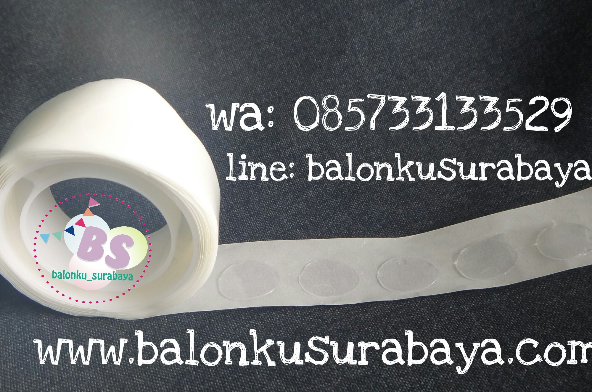 Glue dot, lem balon, balon dekorasi, balon surprise, balon gas