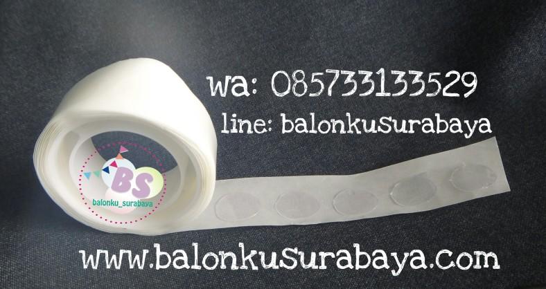 Glue dot, lem balon, balon dekorasi, balon surprise, balon gas