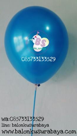 Balon crystal, balon doff, balon metalik, balon gas, balon dekorasi, balon surprise, ballon latex metalik biru tua