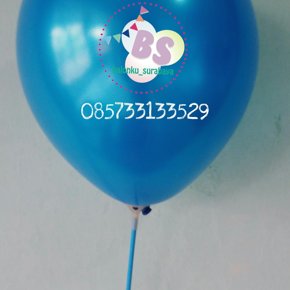 Balon crystal, balon doff, balon metalik, balon gas, balon dekorasi, balon surprise, ballon latex metalik biru tua