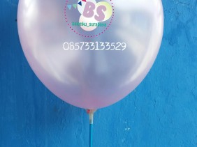 balon latex metalik pink, distributor balon
