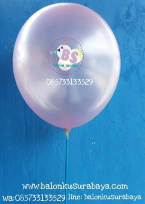 balon latex metalik pink, distributor balon
