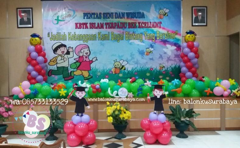 Dekorasi pentas seni sekolah, dekorasi balon surabaya, dekorasi panggung pentas seni anak, dekorasi balon sidoarjo