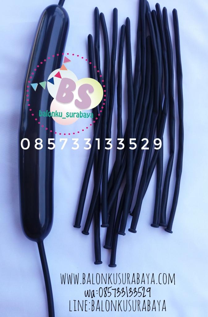 Balon Panjang,Balon Twist, Balon Pentil Warna Hitam, distributor balon, dekorasi balon, balon promosi, party planner