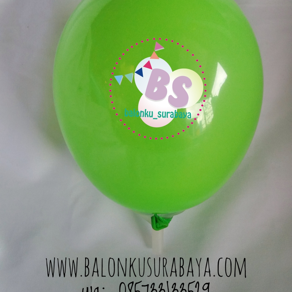 Balon Latex 5 Inch Hijau Muda, balon latex, balon dekorasi, balon promosi, distributor balon