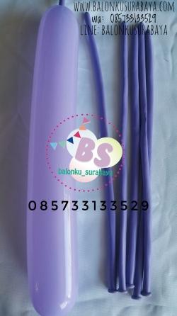 Balon Panjang, Balon Twist. Balon Pentil Warna Ungu Mudaon peomosi, party planner, dekorasi balon