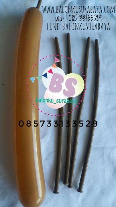 Balon Panjang,Balon Twist, Balon Pentil Warna Coklat Tua, distributor balon, balon promosi,party planner, dekorasi balon