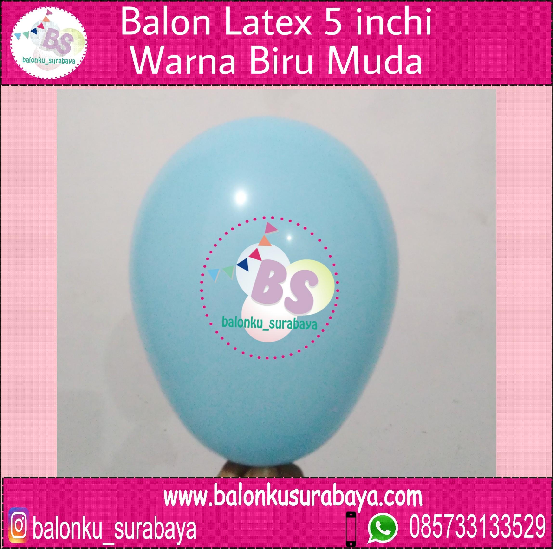 jual balon latex 5 inch biru muda, BAlon Gas,Bunga dekorasi,Rangkaian bunga artificial, Buket bunga, buket bunga mawar, harga buket bunga,Balon sablon, balon Printing, balon promosi, , Perlengkapan ulang tahun, Balon latex , balon doff, balon latex, balon doff merah, balon natal, balon agustusan, balon dekorasi, balonku Surabaya, 085733133529