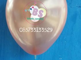 balon latex metalik warna tembaga cooper, distributor balon, balon dekorasi,