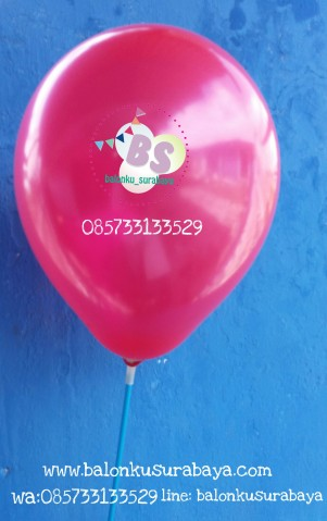Balon Latex Metalik Merah Balon Latex Metalik Merah, ukuran 11 inch, distributor balon