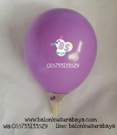 Balon latex 5 inch ungu muda, balon latex, distributor balon, dekorasi balon