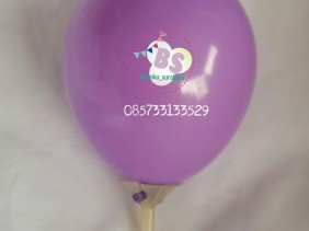 Balon latex 5 inch ungu muda, balon latex, distributor balon, dekorasi balon