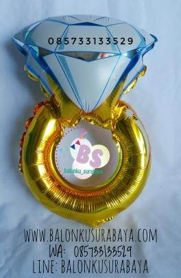 balon foil cincin, engagement, dekorasi balon, balon gas, , party planner surabaya