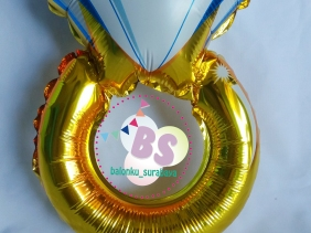 balon foil cincin, engagement, dekorasi balon, balon gas, , party planner surabaya