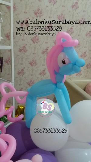 Dekorasi balon, balon little pony, sablon balon, parcel balon, distributor balon, eo surabaya, party planner