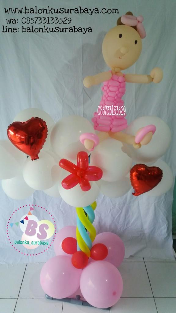 Parcel Balon, dekorasi balon, balon bayi, balon baby shower, distributor balon