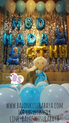 Dekorasi Ulang tahun anak tema frozen, Dekorasi ulang tahun Frozen, dekorasi balon pacar, Distributor balon, Parcel Balon, Balon Sablon, Balon Gas